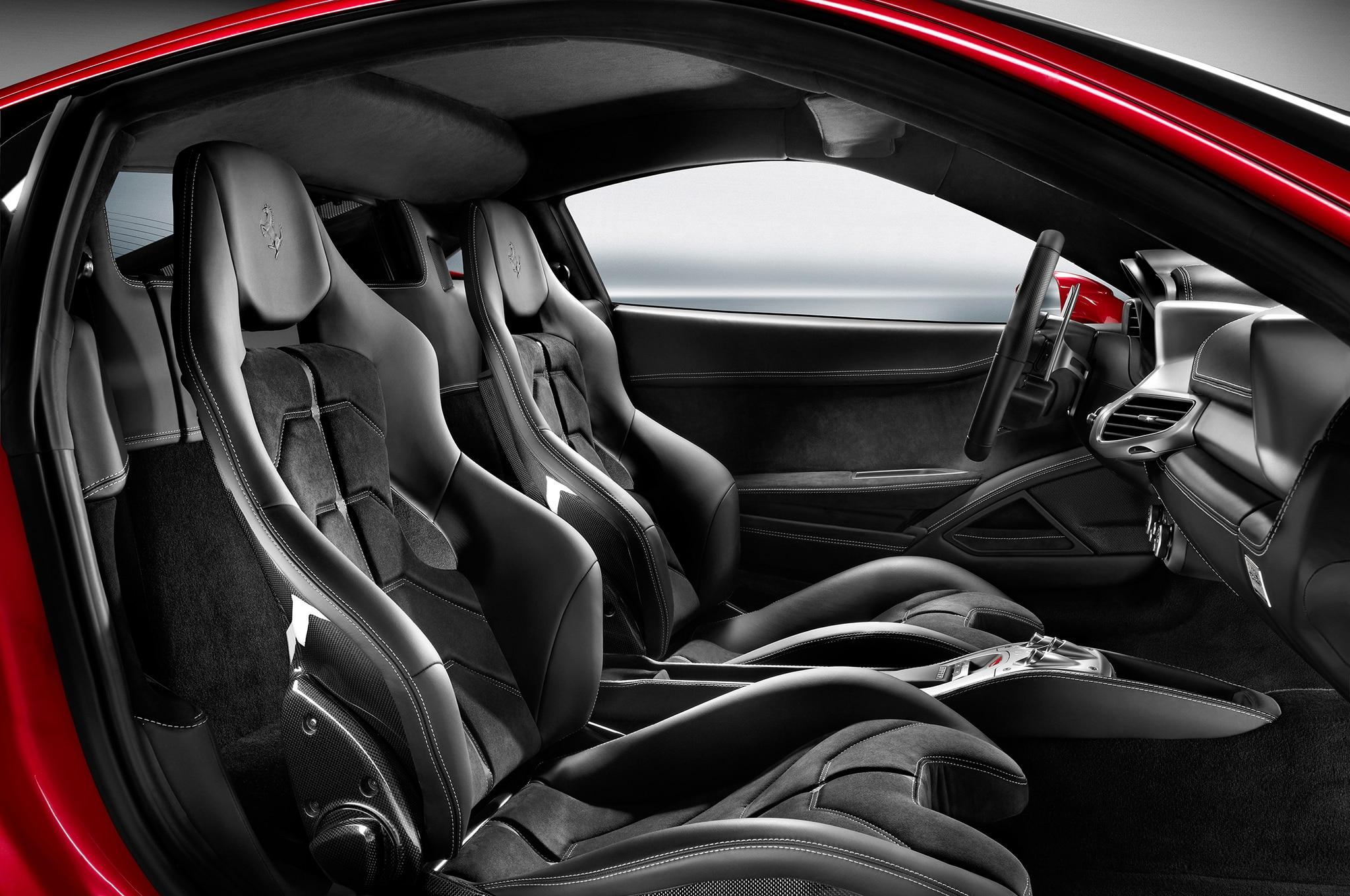 Dmc milano carbon fiber and leather interior for the ferrari 458 2014 ferrari 458 italia interior front view vanachro Images