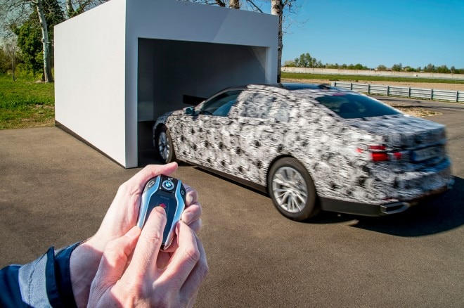 2016 BMW 7 Series Prototype And Then Remote Control Parking 03 660x438