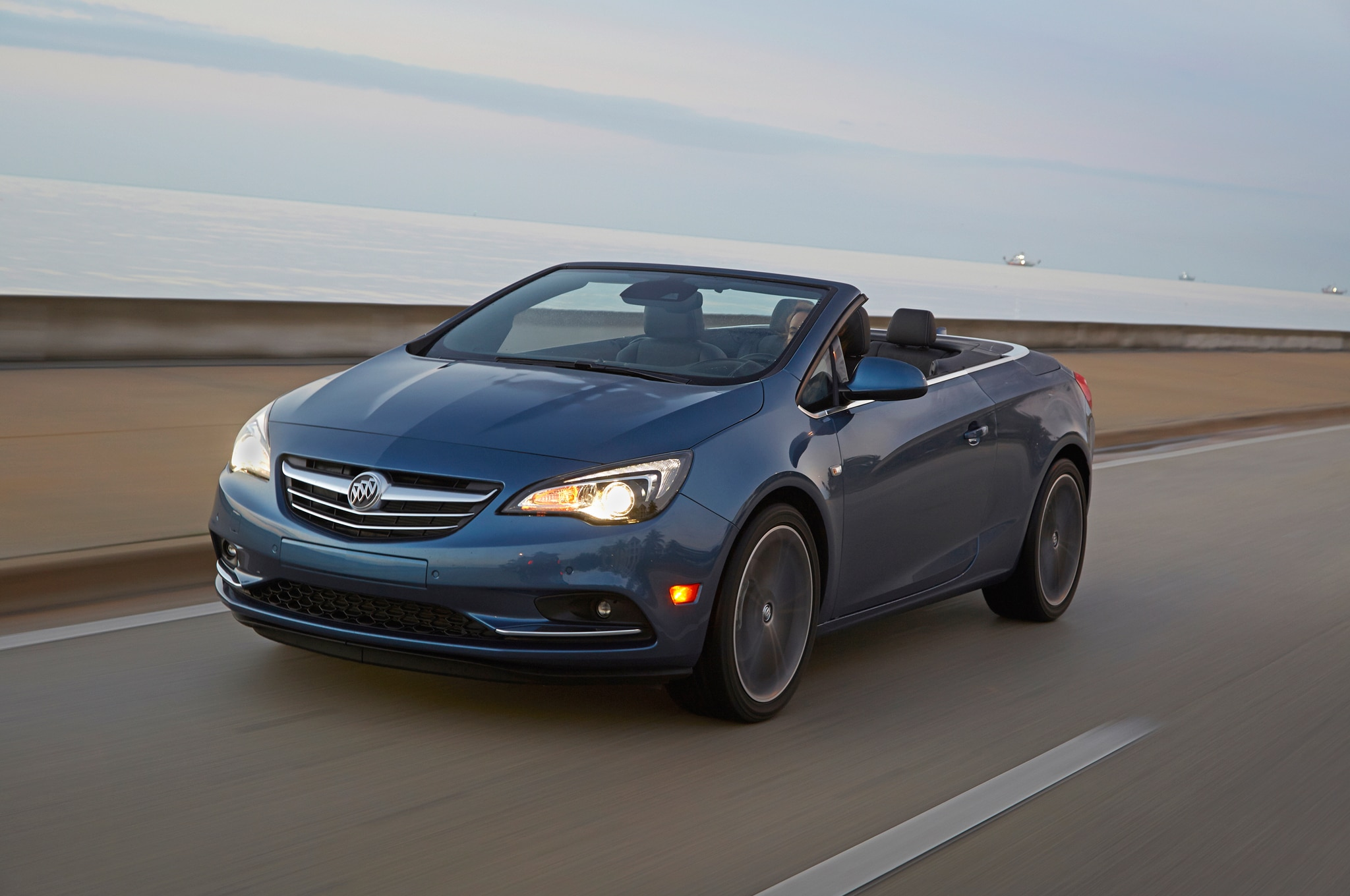 2016 Buick Cascada Convertible Front Three Quarter In Motion 03