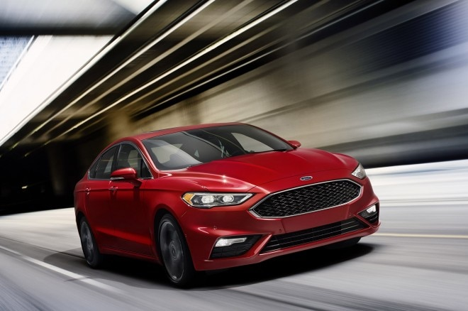 2017 Ford Fusion Sport Front Three Quarters In Motion 660x438