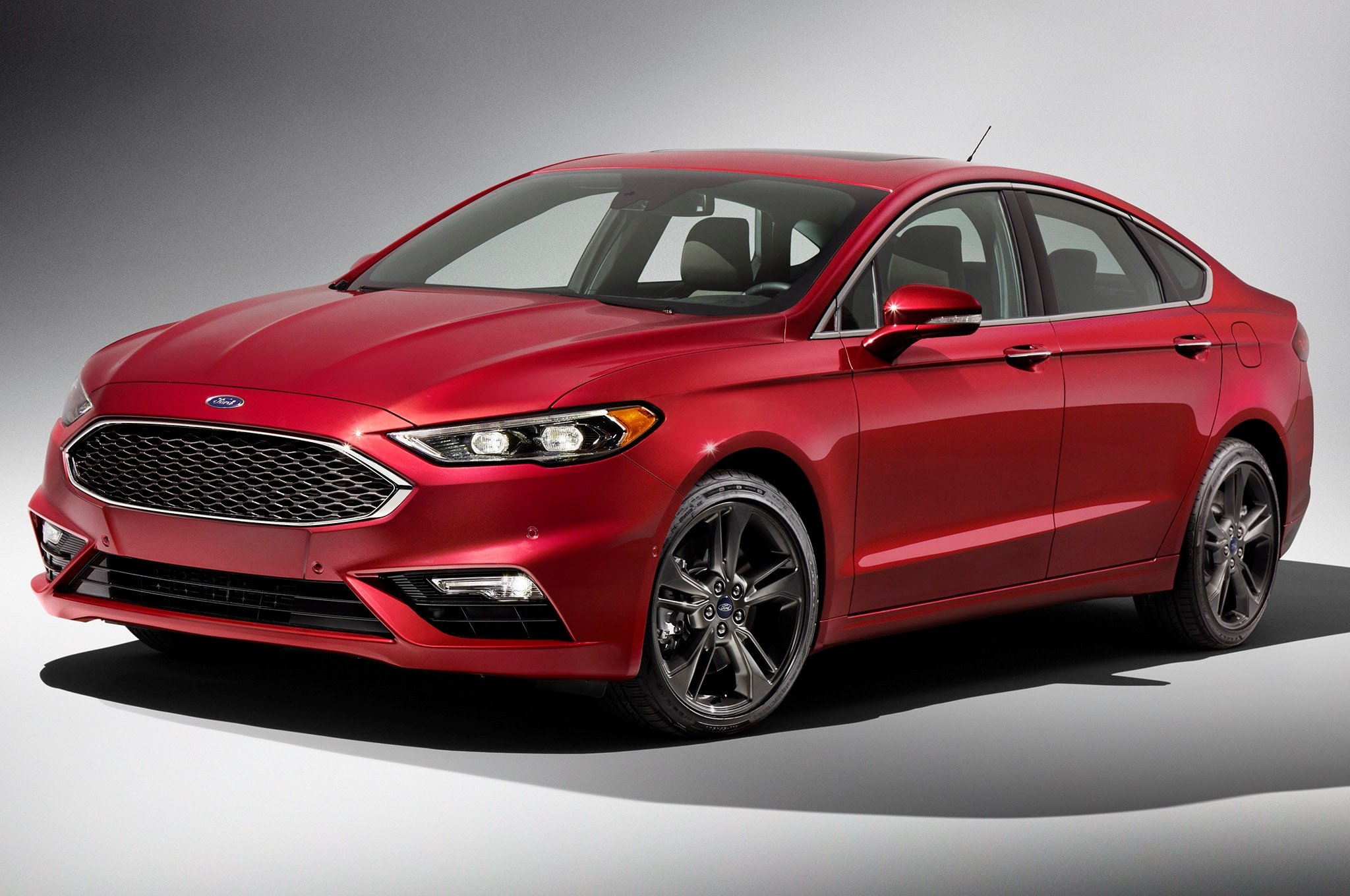 2017 ford fusion refreshed for detroit adds 325 hp v6 sport model. Black Bedroom Furniture Sets. Home Design Ideas