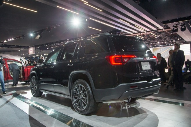 2017 GMC Acadia rear three quarters2