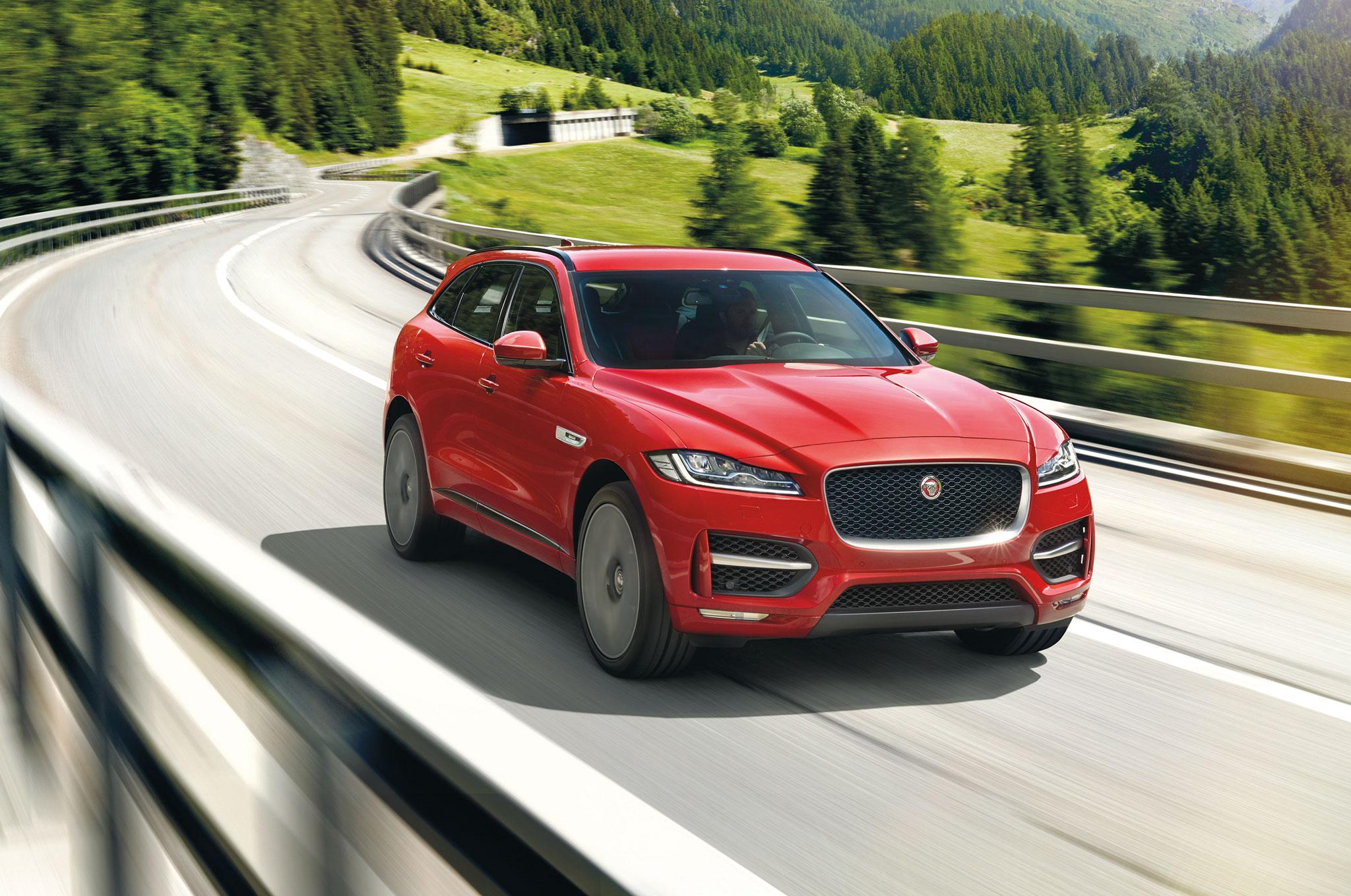 2017 Jaguar F Pace Front Three Quarter In Motion 07