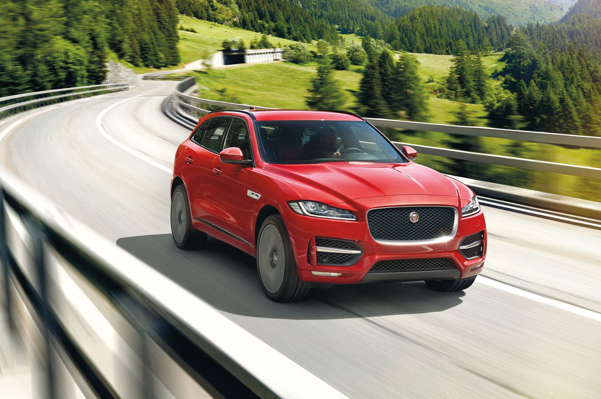 2017 Jaguar F Pace Front Three Quarter In Motion 07