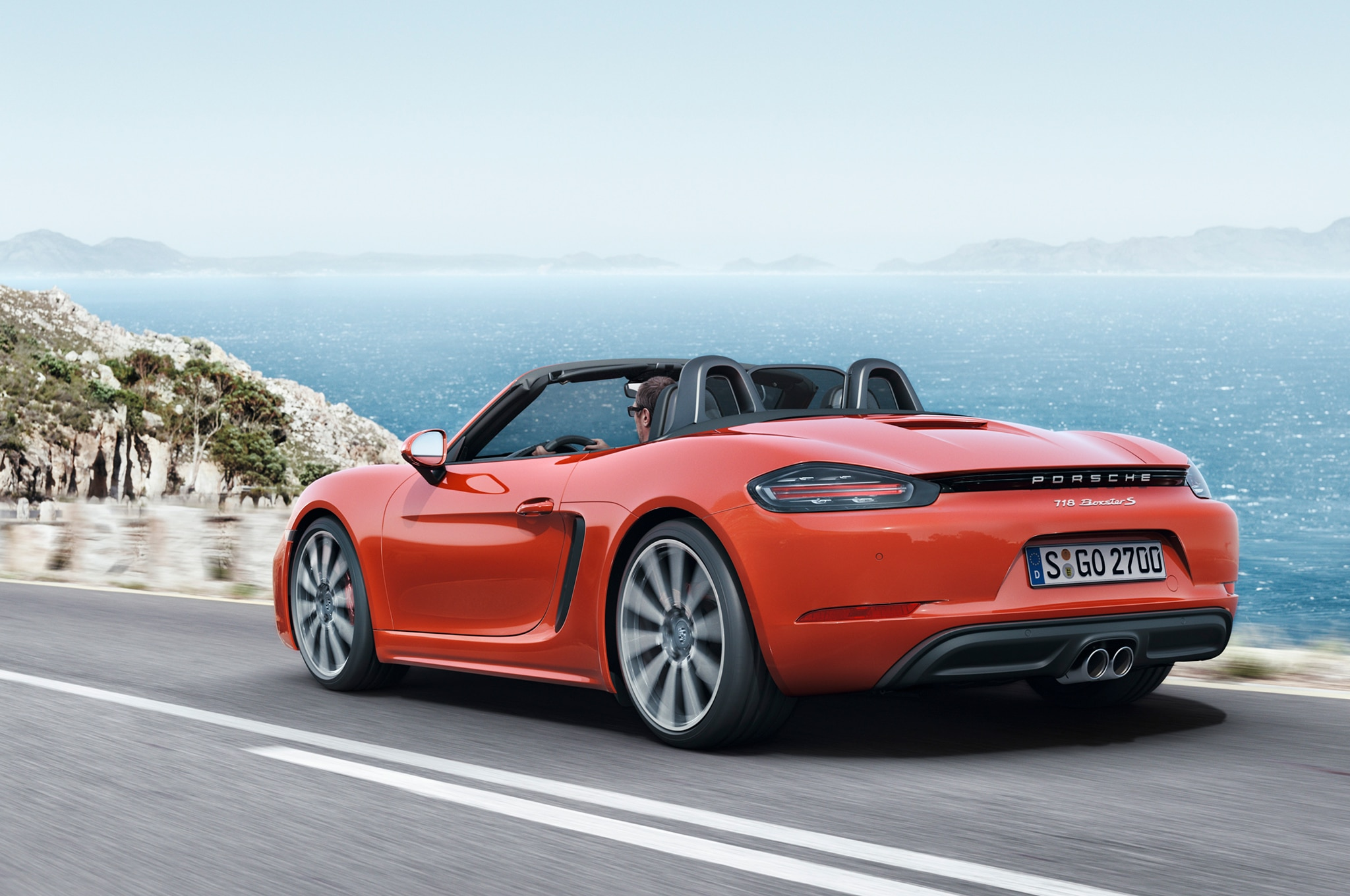 2017 porsche 718 boxster fully revealed with turbo flat four engines. Black Bedroom Furniture Sets. Home Design Ideas