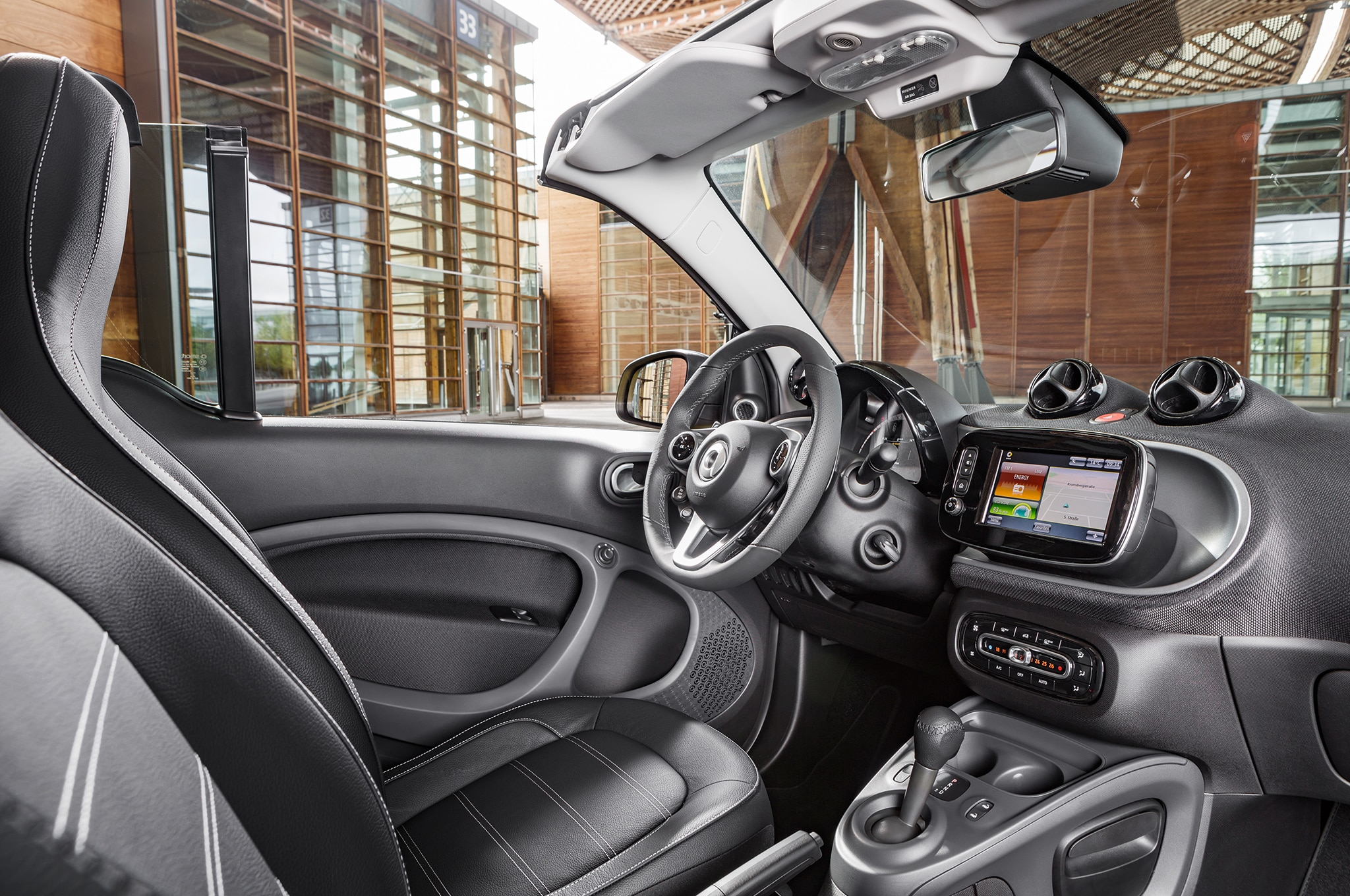 2017 Smart Fortwo Cabriolet interior 1