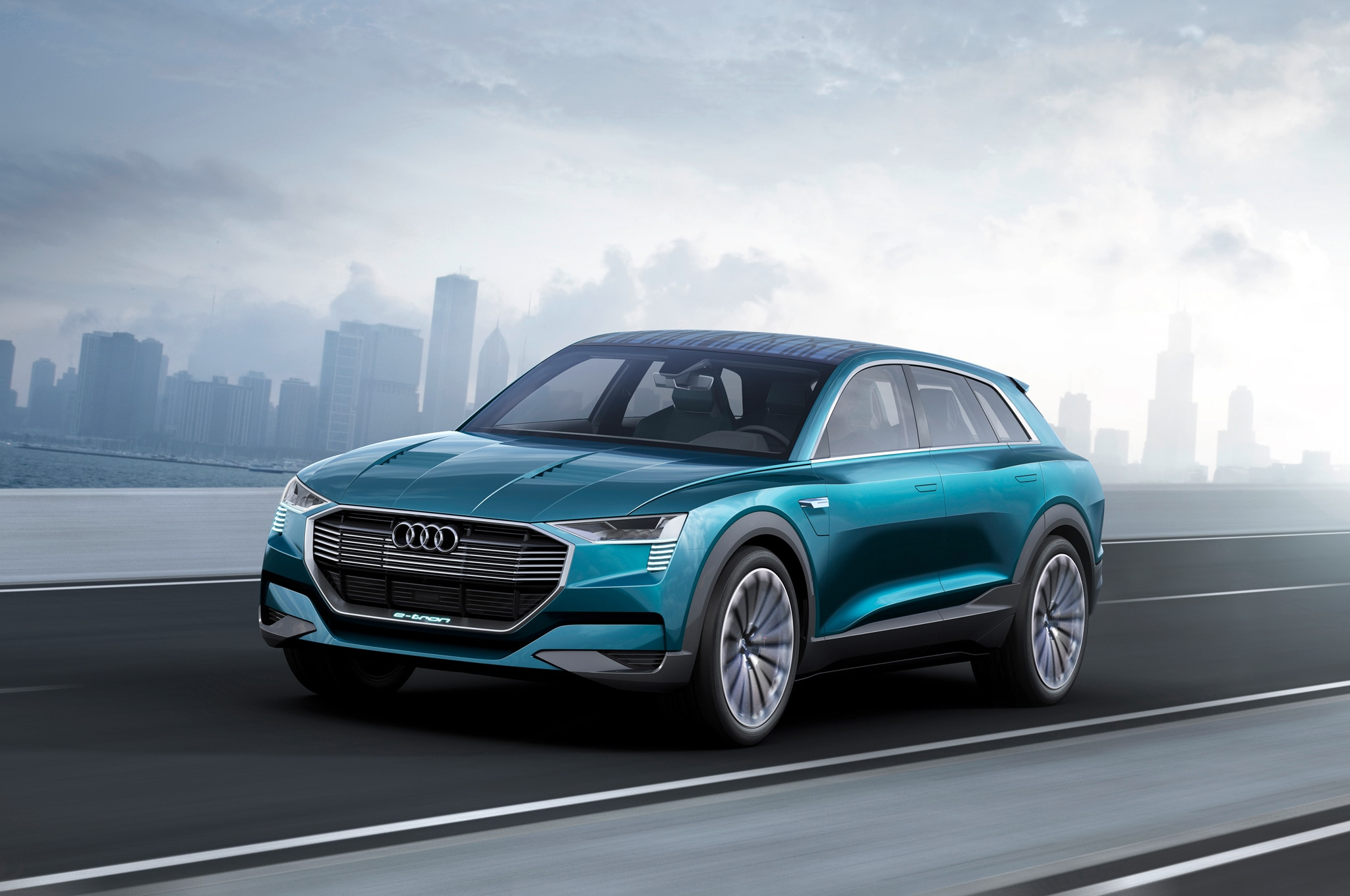all electric audi q6 e tron coming in 2018 with 300 miles. Black Bedroom Furniture Sets. Home Design Ideas