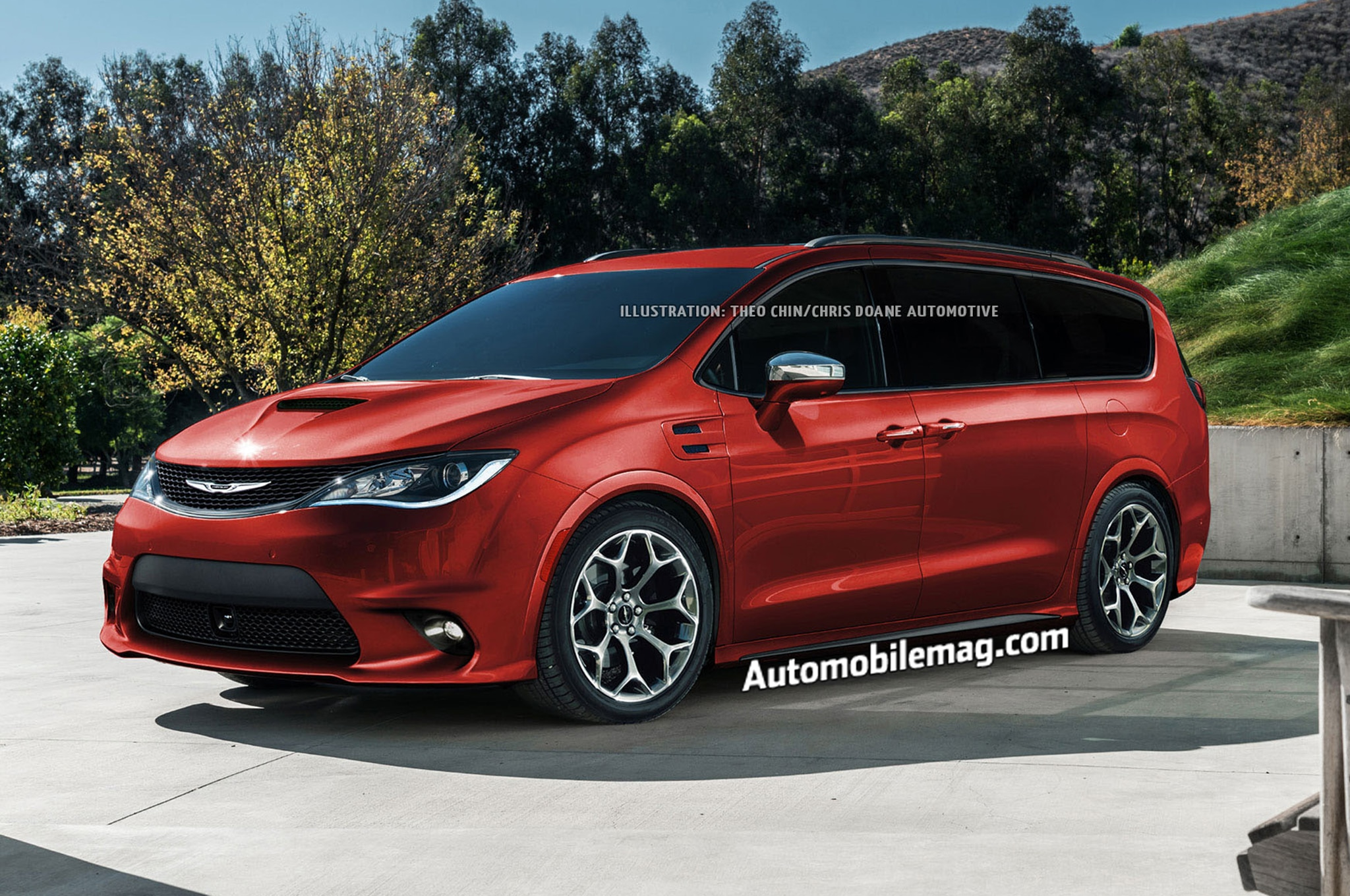 Chrysler Pacifica Hellcat Rendering Front Three Quarter 2