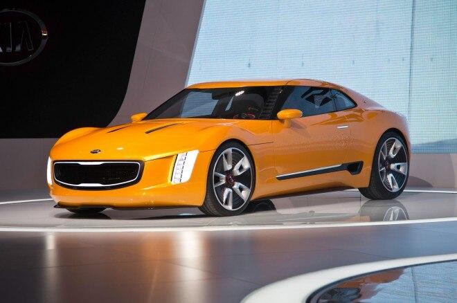 Kia GT4 Stinger Concept front three quarters