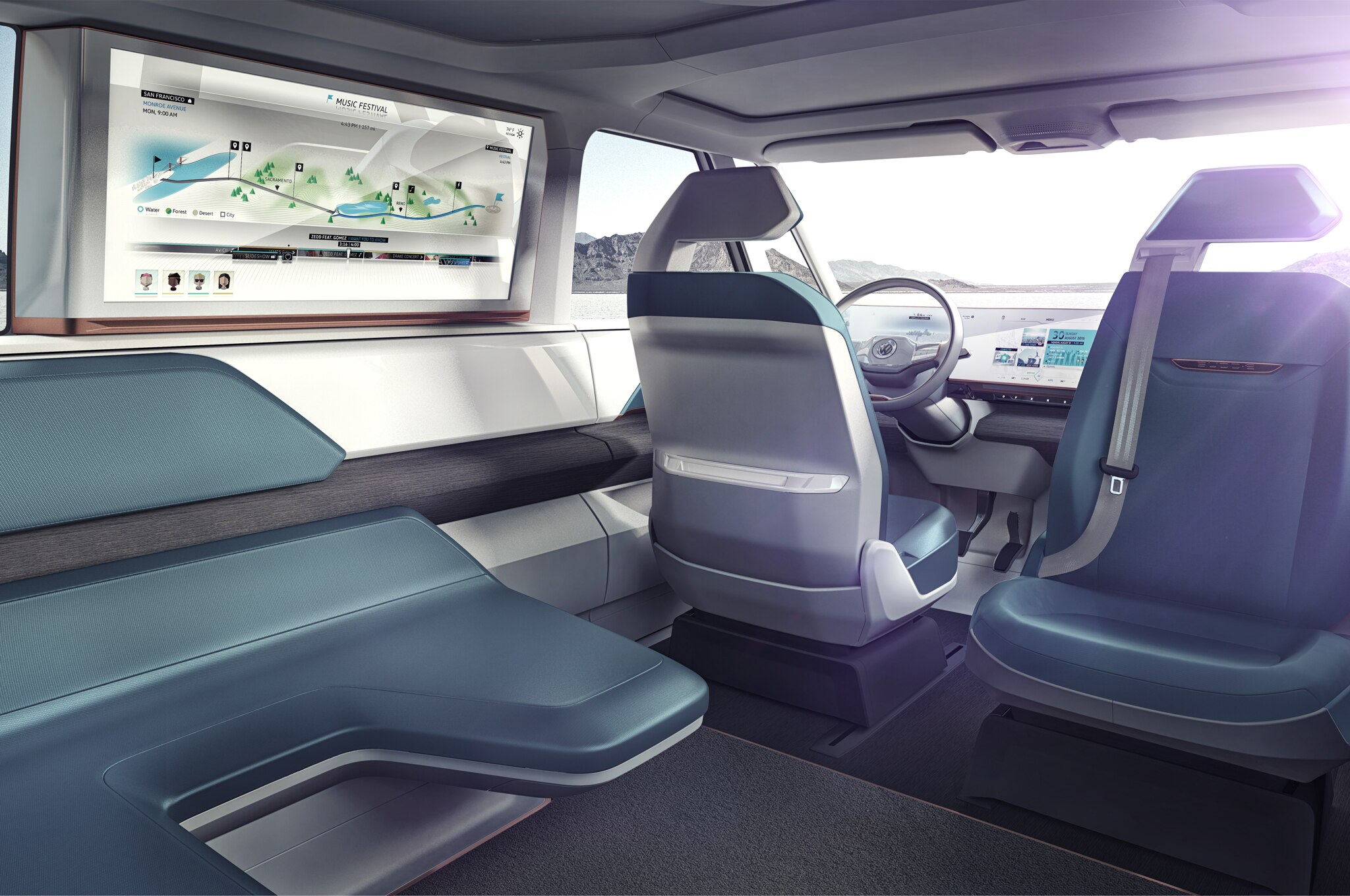 volkswagen budd e concept has 233 miles of range microbus like body. Black Bedroom Furniture Sets. Home Design Ideas