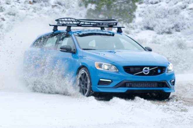 2016 Volvo V60 Polestar Tested In A Very Snowy Episode Of