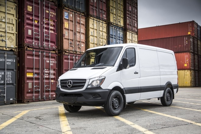 2016 Mercedes Benz Sprinter Worker Front Three Quarters Static 04 660x440