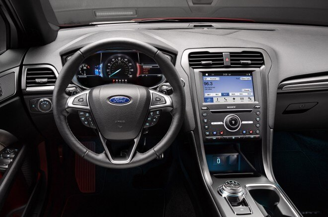 2017 Ford Fusion Sport front interior