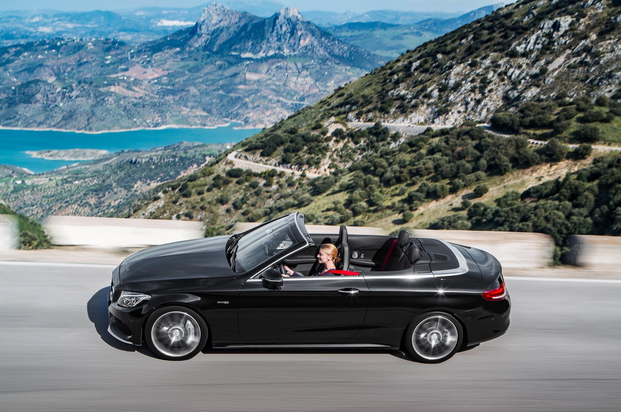 2017 mercedes benz c class cabriolet revealed in c300 amg c43 guises automobile magazine. Black Bedroom Furniture Sets. Home Design Ideas
