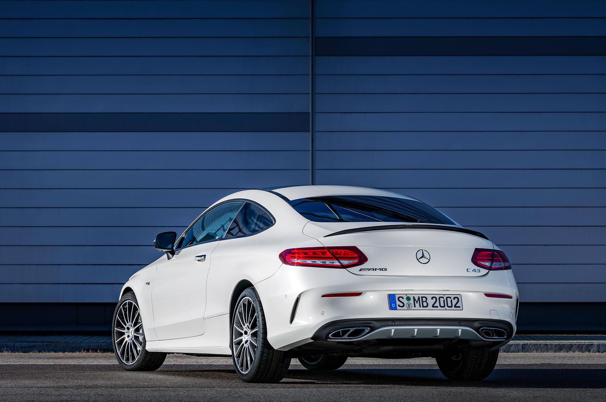 http://st.automobilemag.com/uploads/sites/11/2016/02/2017-Mercedes-AMG-C43-Coupe-rear-three-quarter.jpg