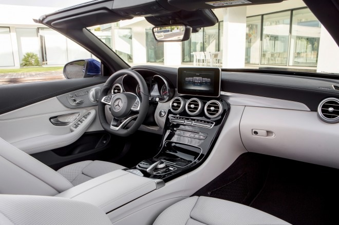 2017 mercedes benz c class cabriolet revealed in c300 amg for Artico interieur