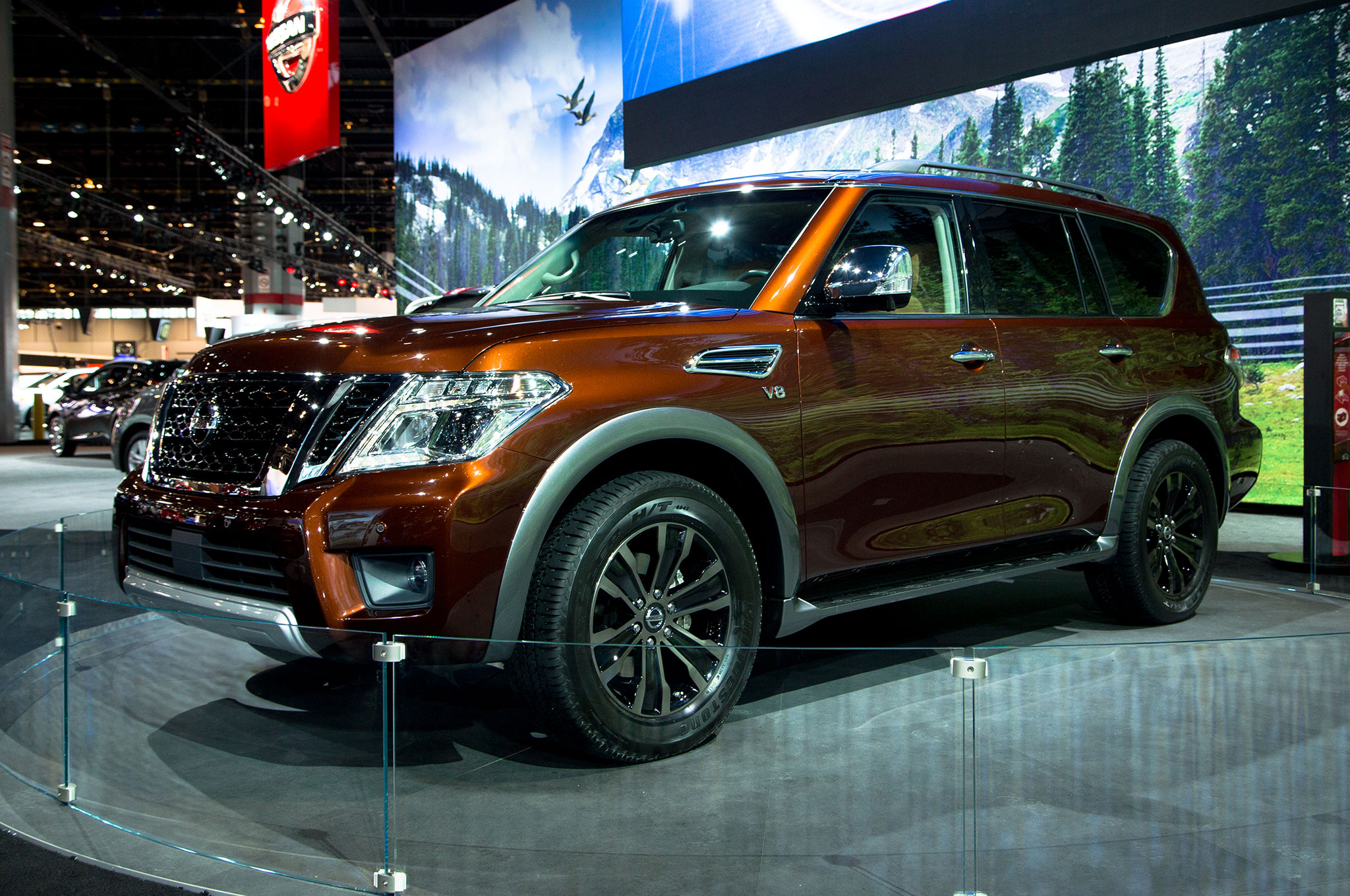 2017 nissan armada takes on the toyota land cruiser. Black Bedroom Furniture Sets. Home Design Ideas