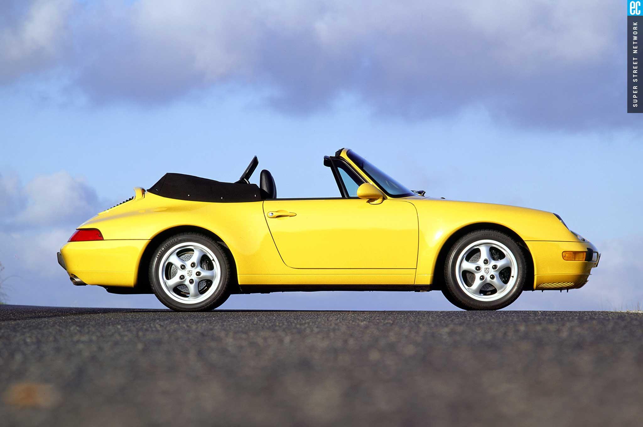 95 98 porsche 993 cabriolet passenger side profile