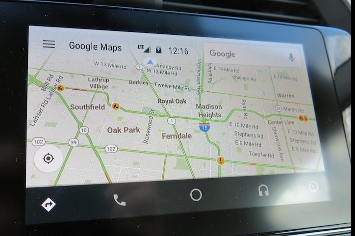 How to change maps in android auto