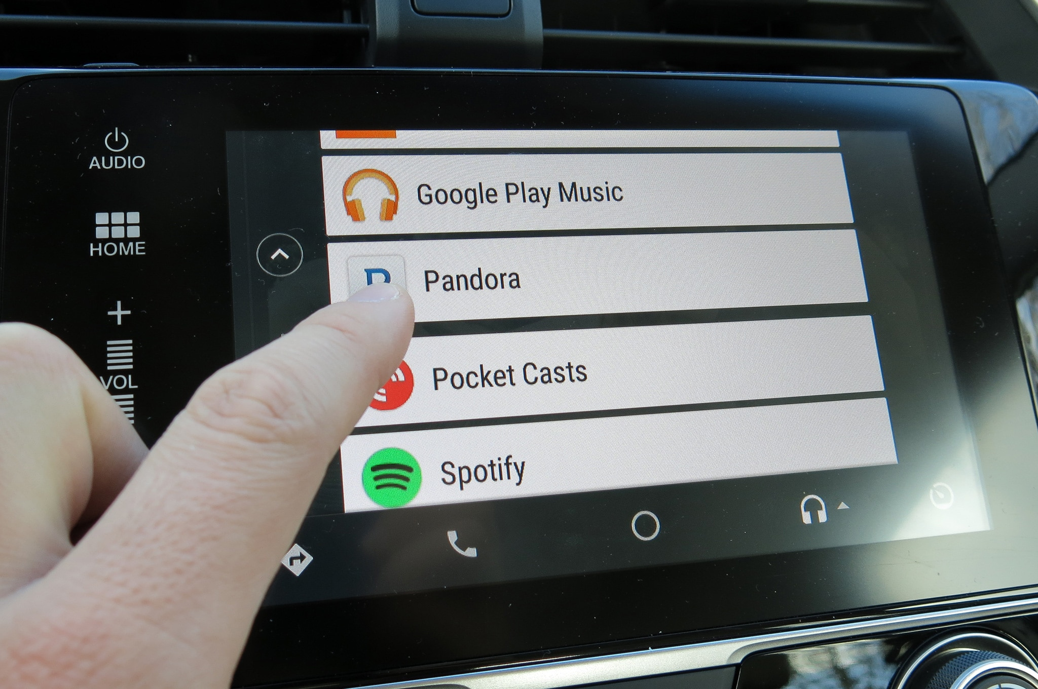 hands on with android auto in a 2016 honda civic