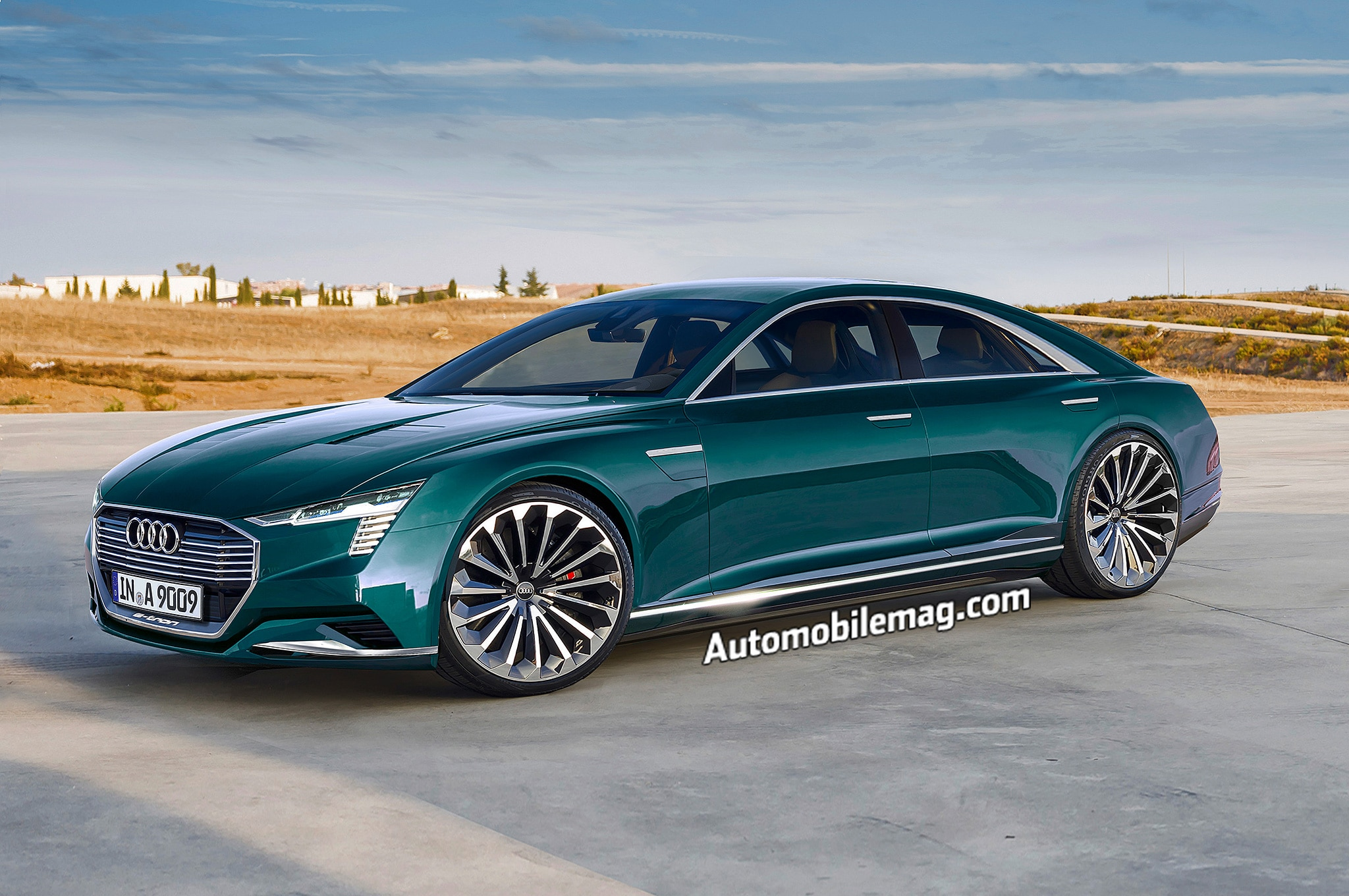 Audi A9 Rendering Front Three Quarter