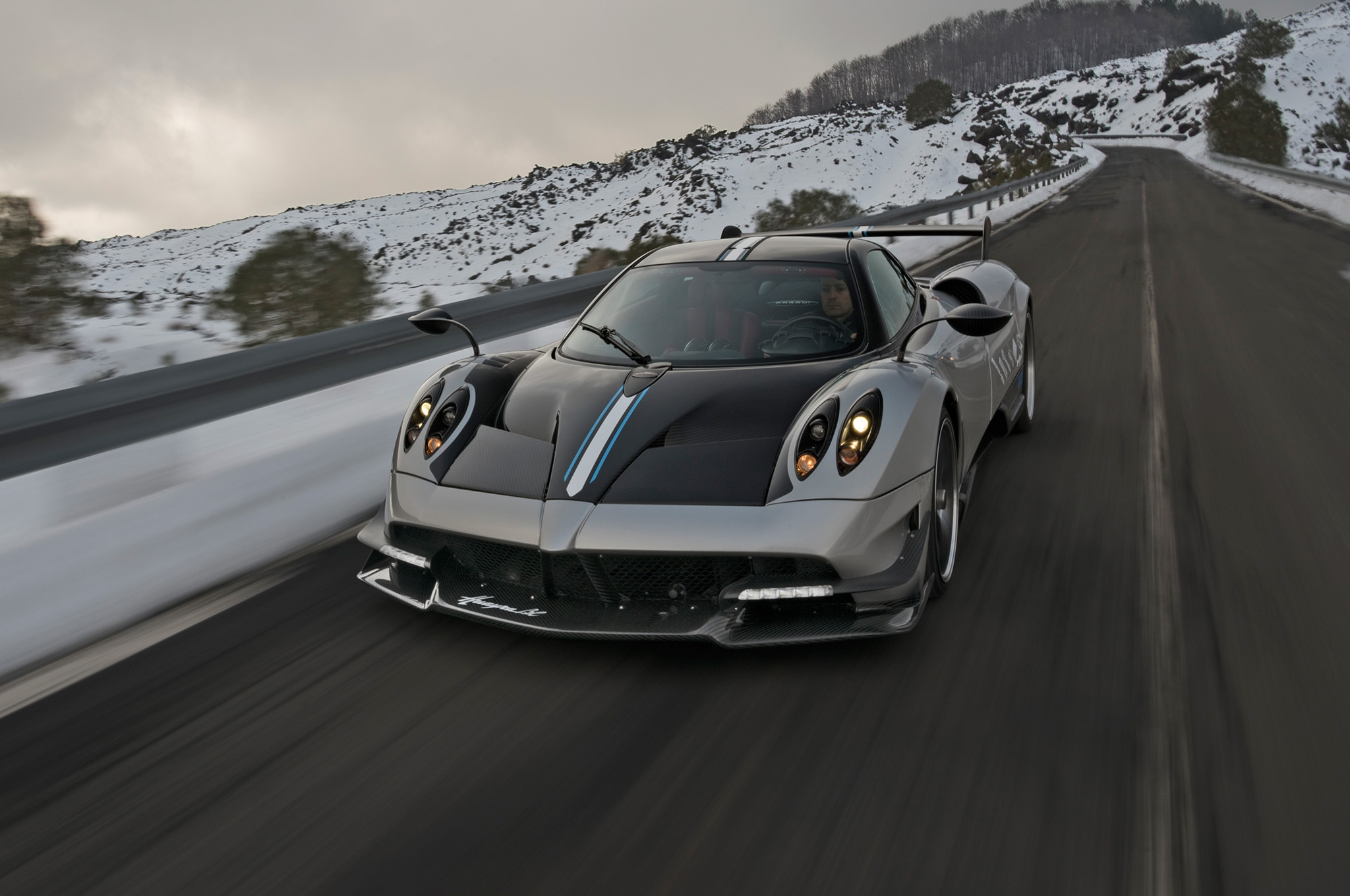 watch a pagani huayra bc spit blue flames automobile magazine. Black Bedroom Furniture Sets. Home Design Ideas