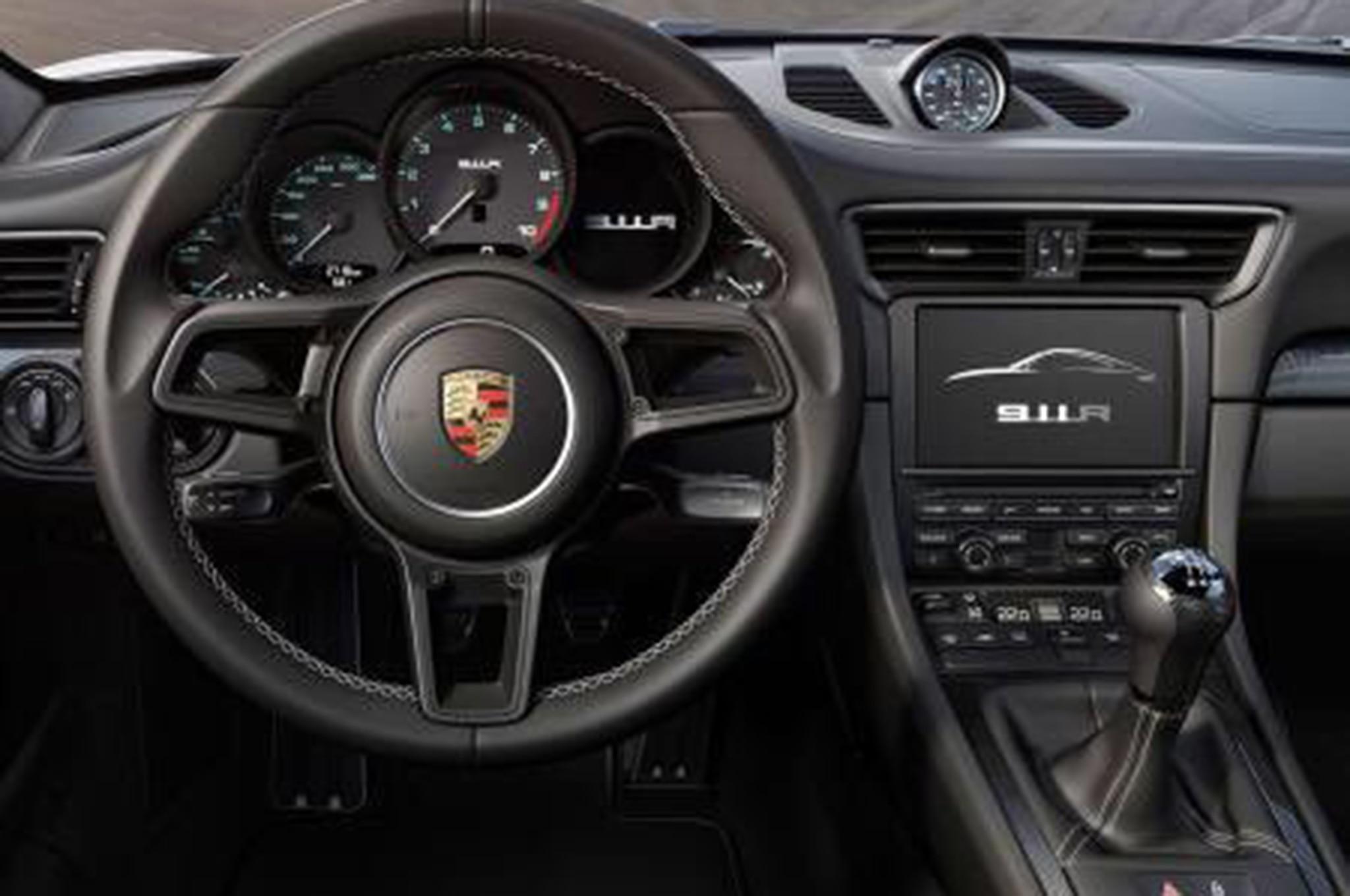 Porsche 911 r leaks ahead of geneva debut packs gt3 rs for Porsche 911 interieur