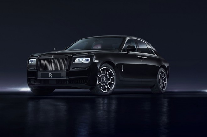 Rolls Royce Ghost Black Badge front three quarter 01