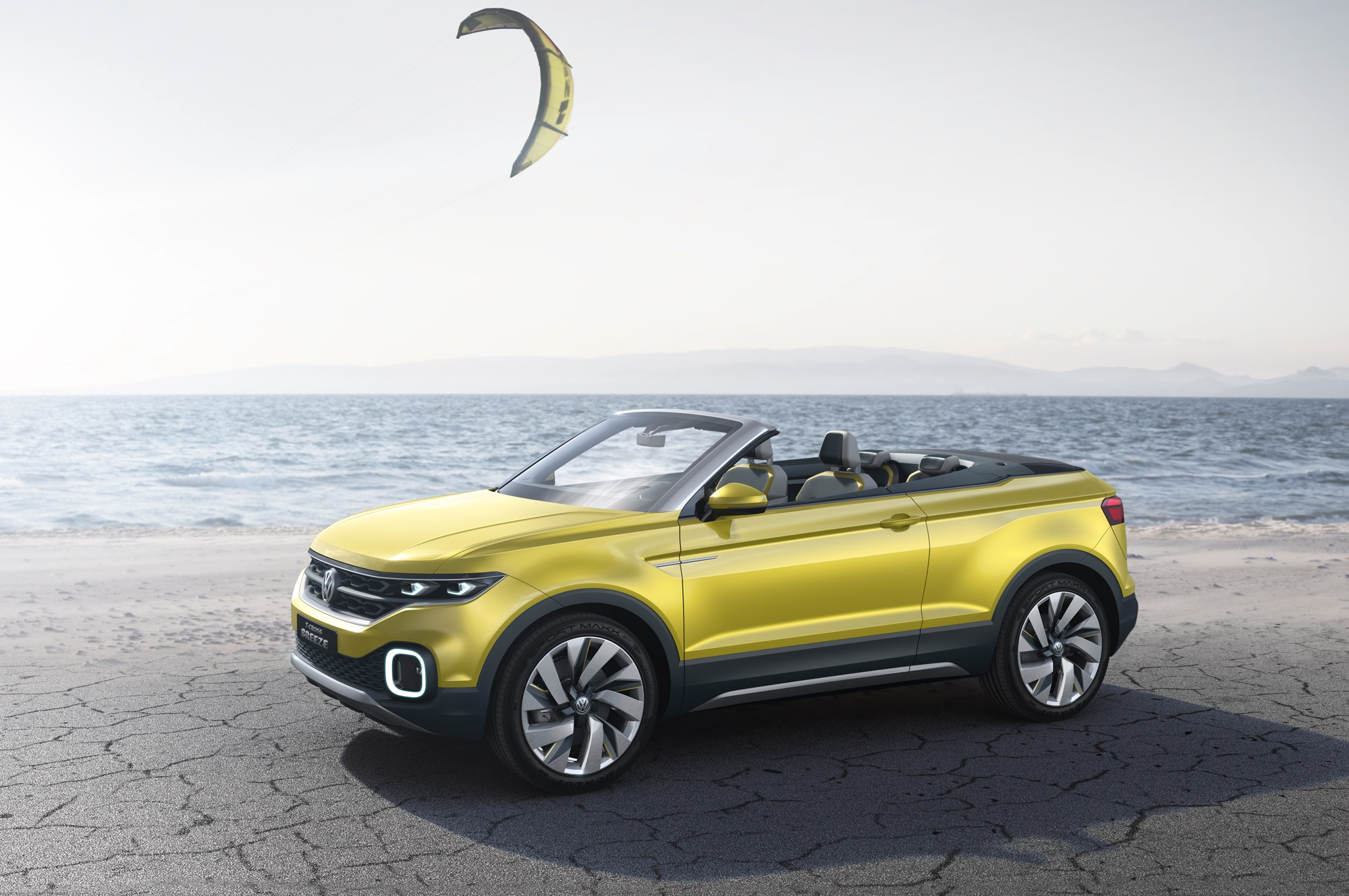 volkswagen t cross breeze concept is a tiny droptop crossover automobile magazine. Black Bedroom Furniture Sets. Home Design Ideas