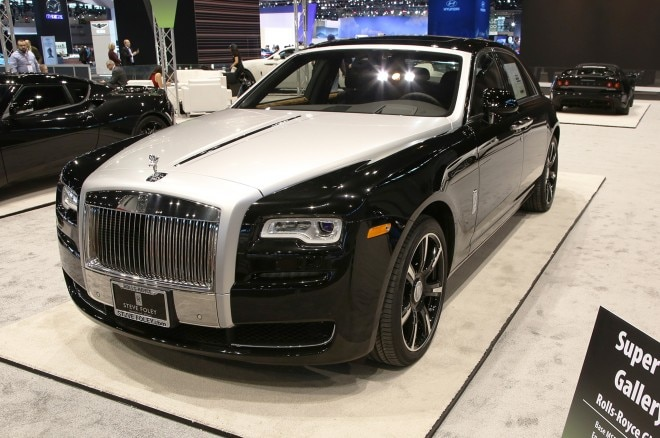 rolls royce ghost chicago auto show
