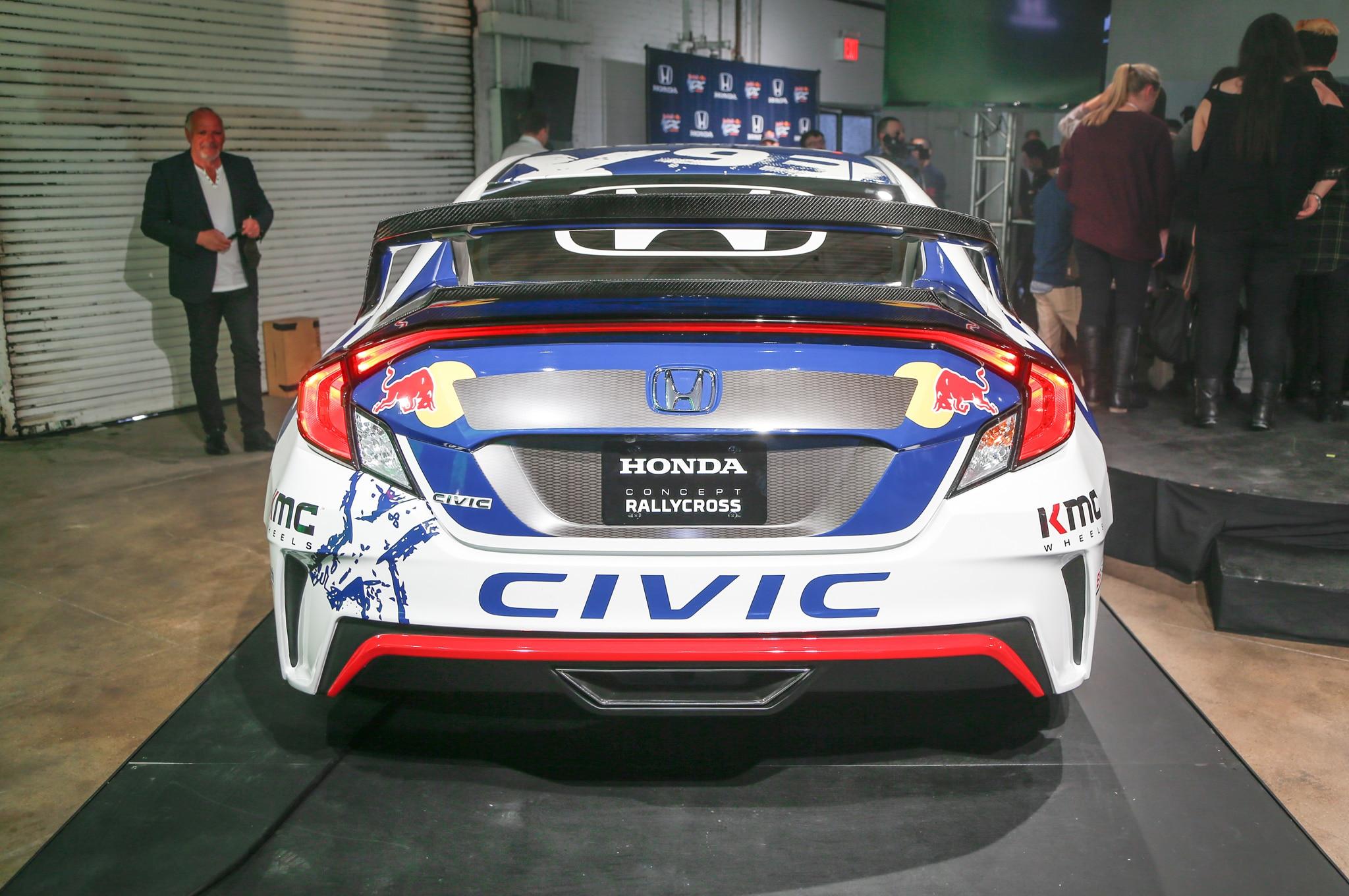 2016 honda civic coupe red bull global rallycross race car debuts in - Unlike