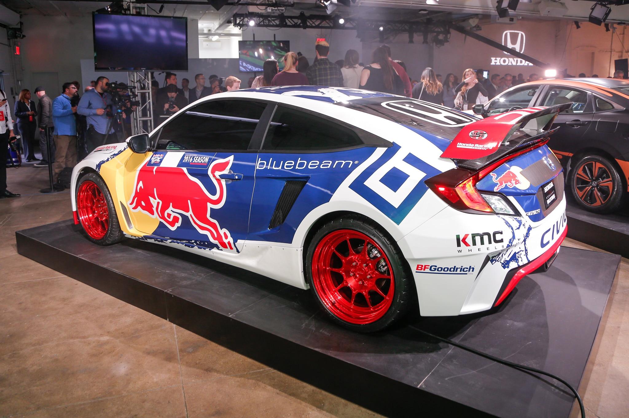 2016 honda civic coupe global rallycross racing car revealed