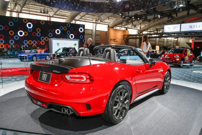 2017 FIat 124 Elaborazione Abarth rear three quarters