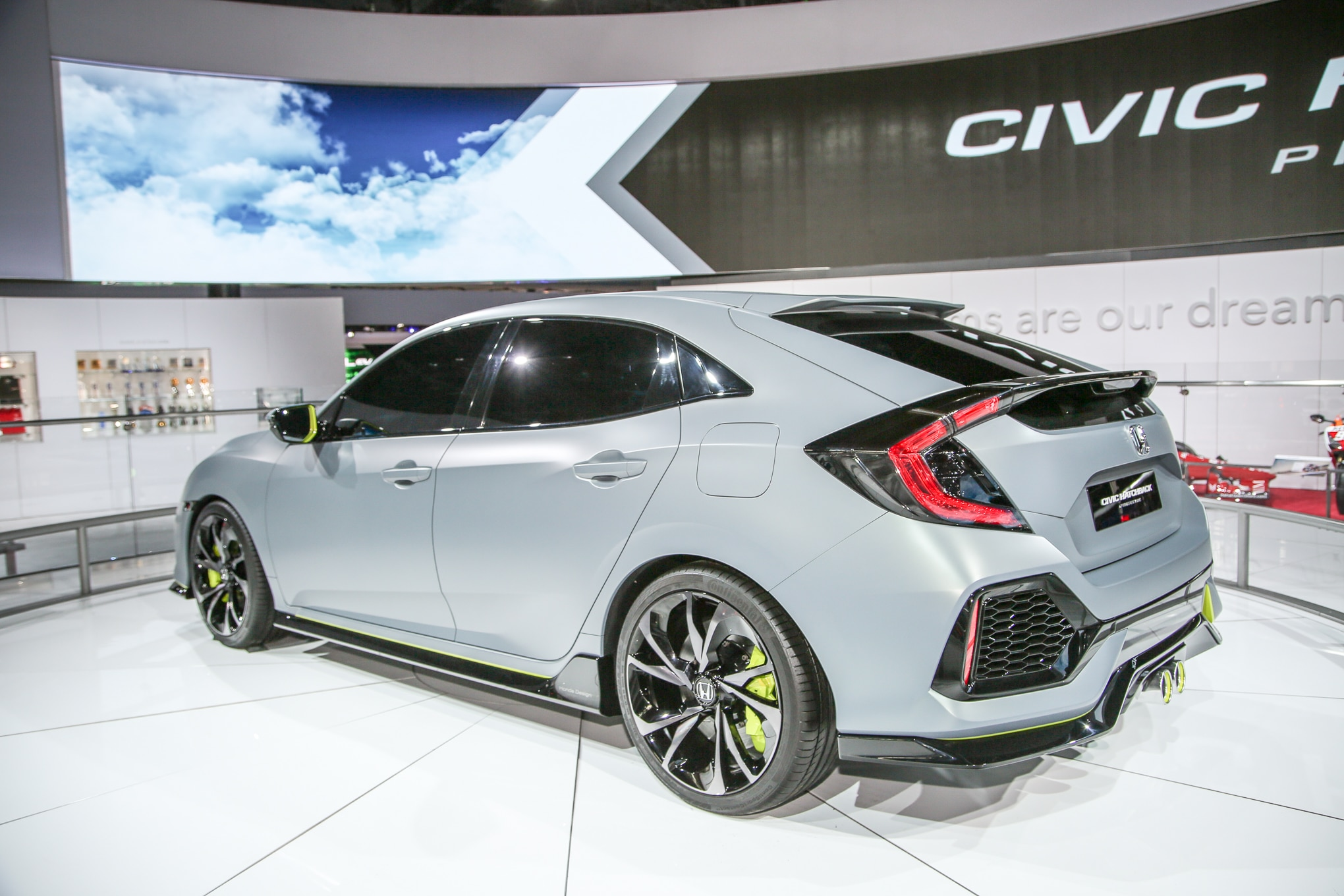 2017 honda civic hatchback prototype revealed in new york for Honda civic wagon 2017