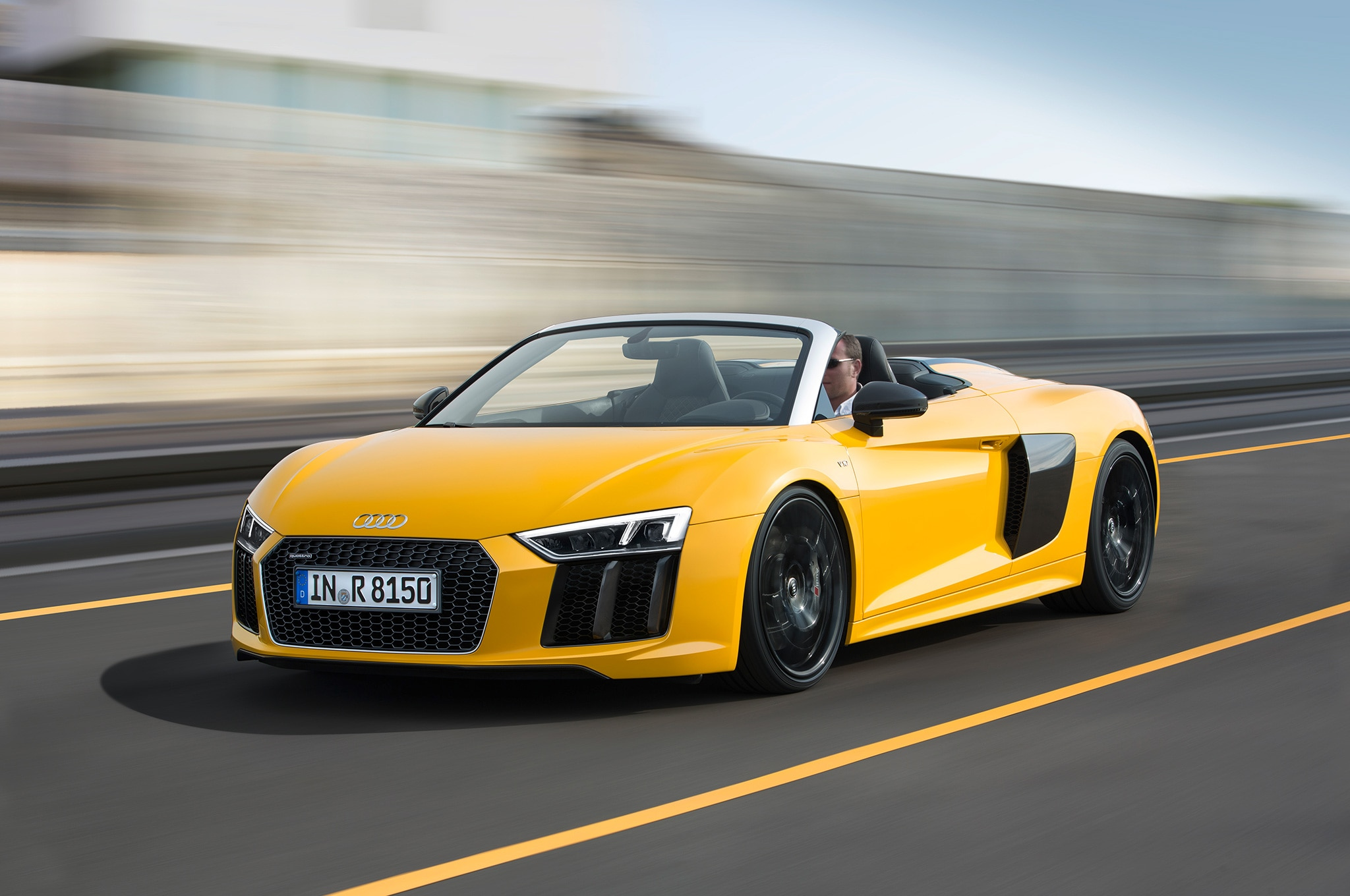 Audi R8 Spyder Convertible Shown At 2016 New York Auto Show