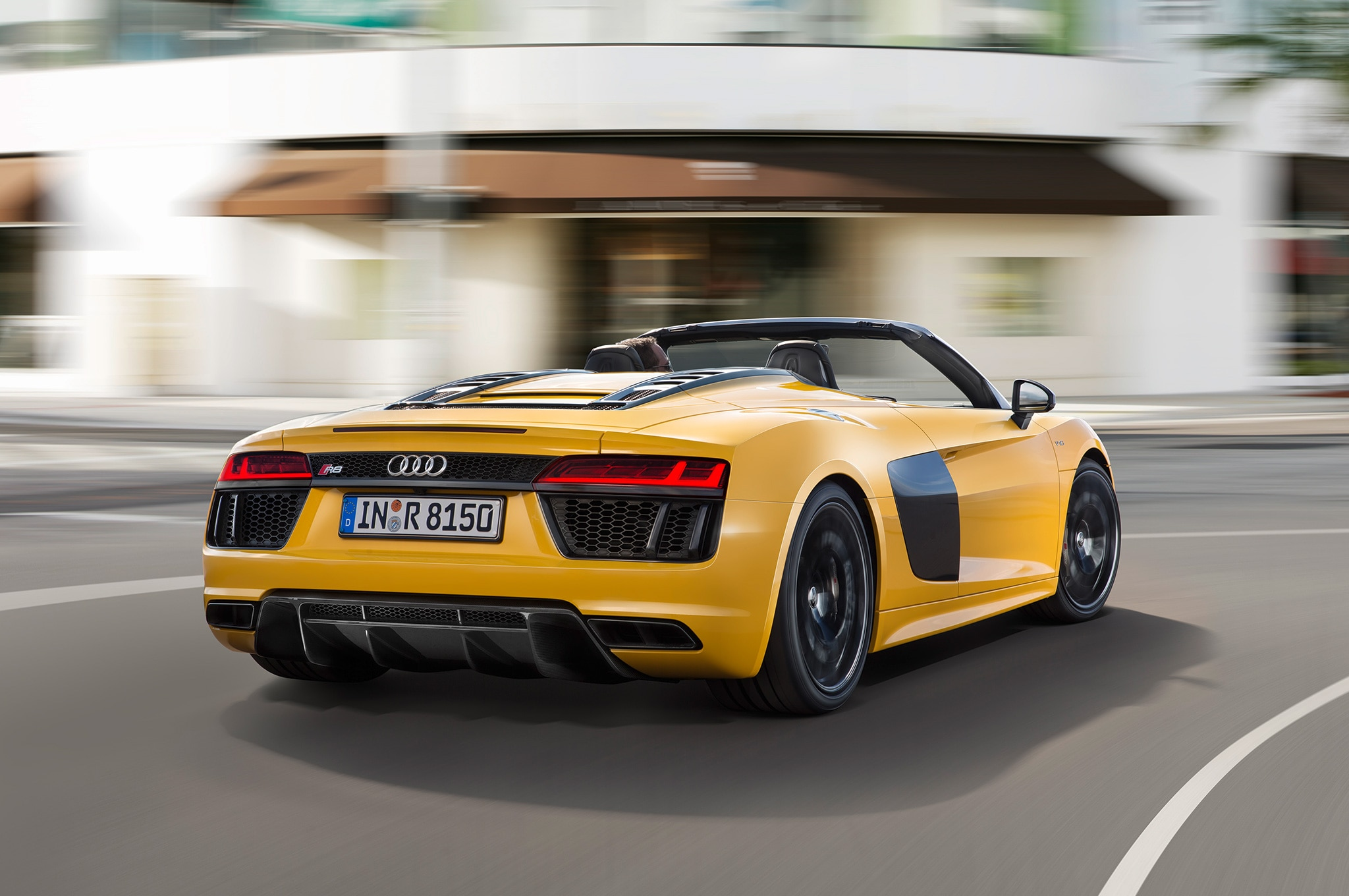 audi r8 spyder convertible shown at 2016 new york auto show. Black Bedroom Furniture Sets. Home Design Ideas