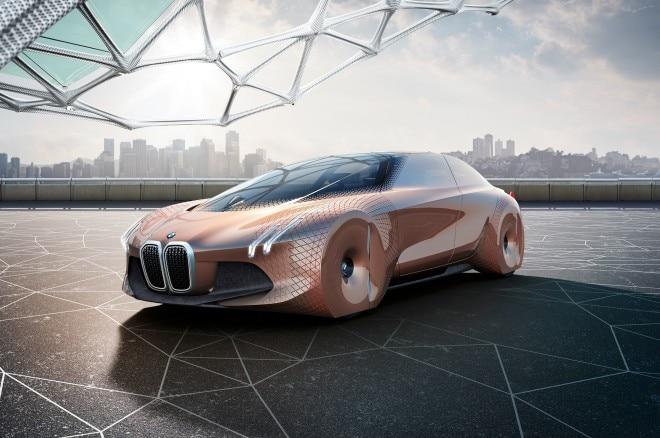 BMW Vision Next 100 front three quarter