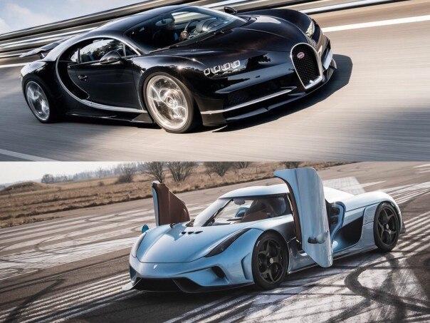 Hypercar Face-Off: Bugatti Chiron vs. Koenigsegg Regera ...