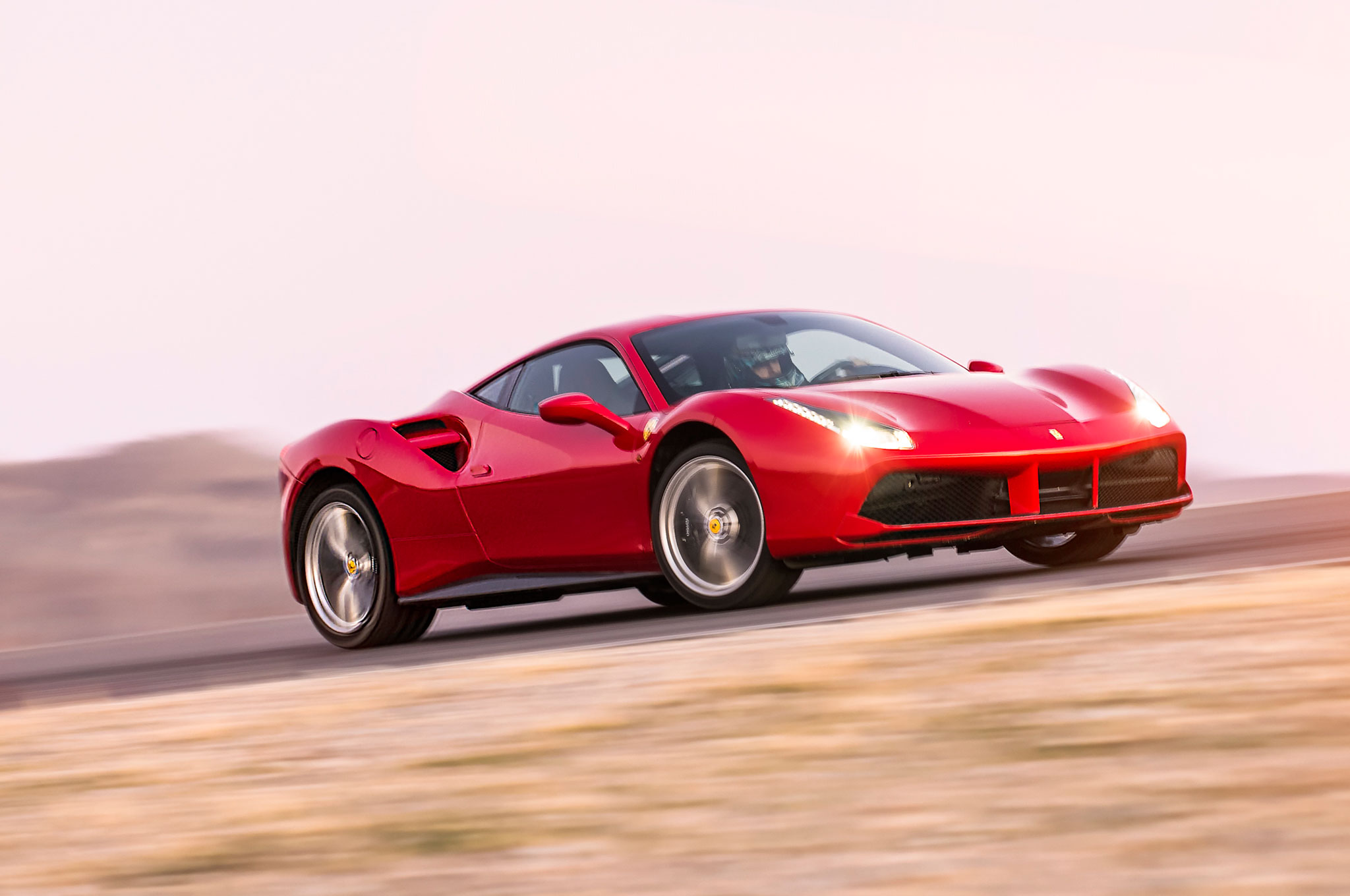 Ferrari 488 GTB Front Three Quarter In Motion 04