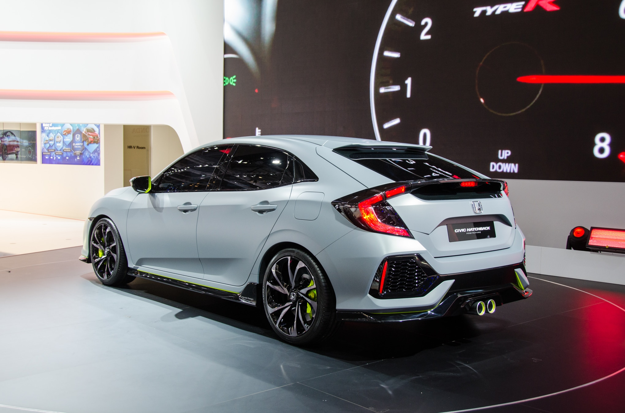 honda civic hatchback prototype combines sportiness and practicality in geneva automobile magazine. Black Bedroom Furniture Sets. Home Design Ideas