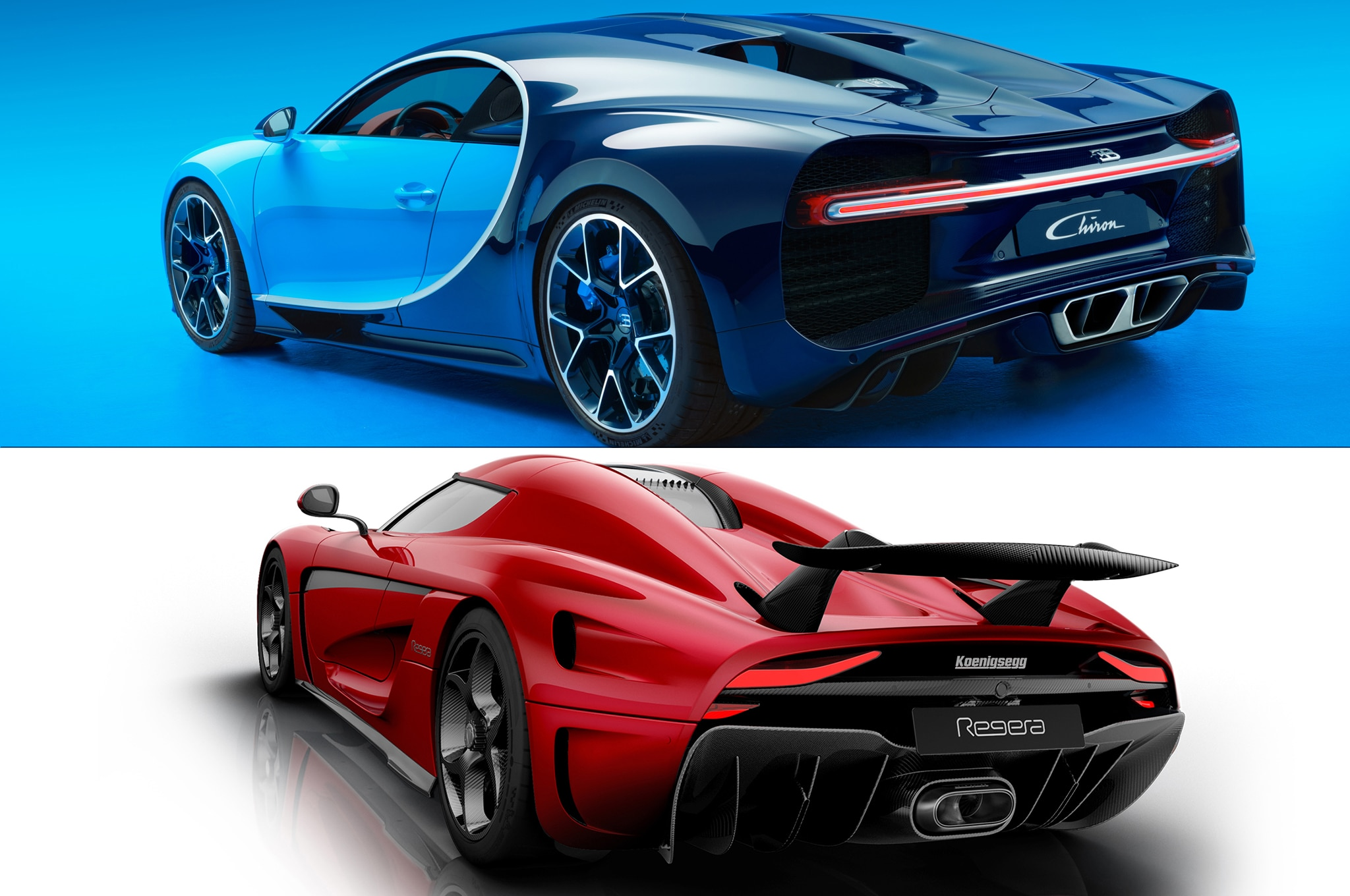 hypercar face off bugatti chiron vs koenigsegg regera automobile magazine. Black Bedroom Furniture Sets. Home Design Ideas