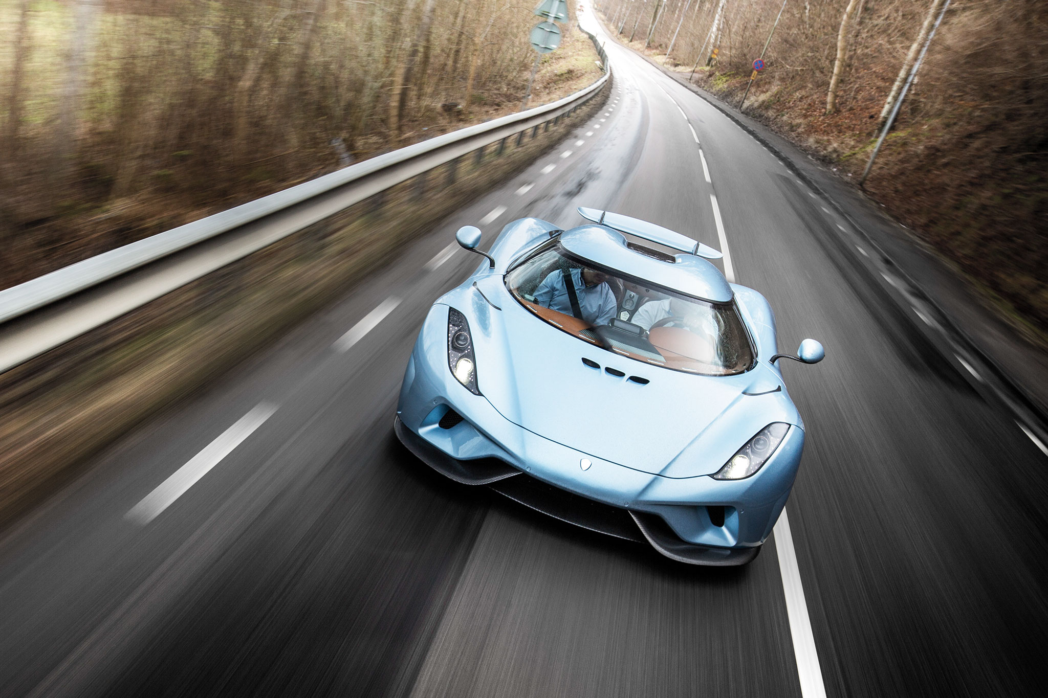 Koenigsegg Regera Front View In Motion