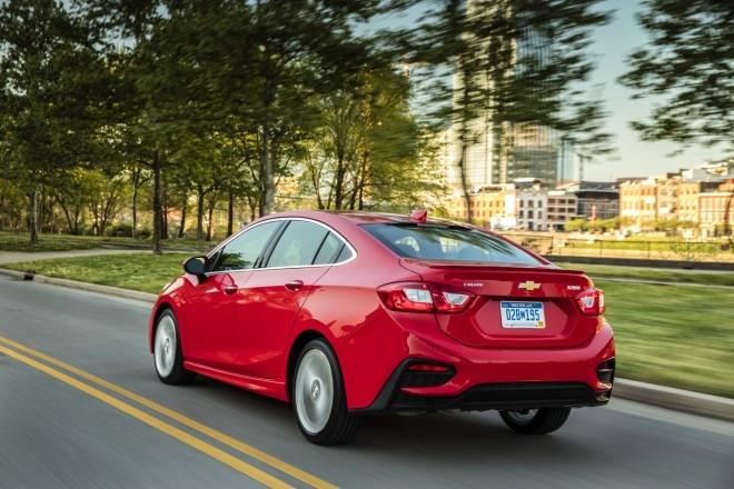 2016 Chevrolet Cruze rear three quarter in motion