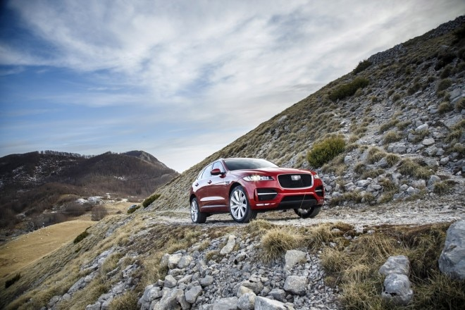 2017 Jaguar F Pace First Edition front three quarters 04