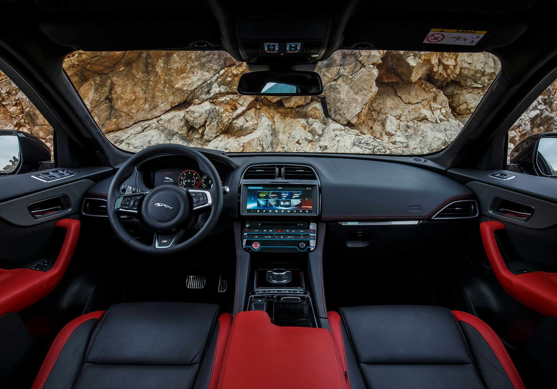 2017 jaguar f pace first edition interior view automobile