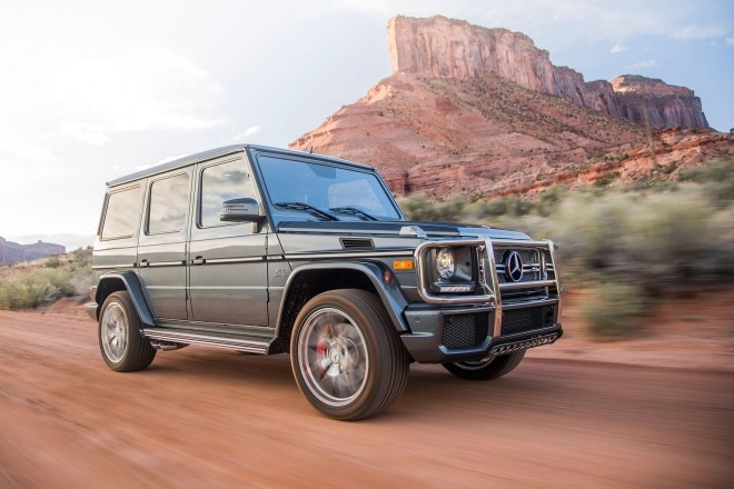2017 Mercedes AMG G65 front three quarter in motion 11