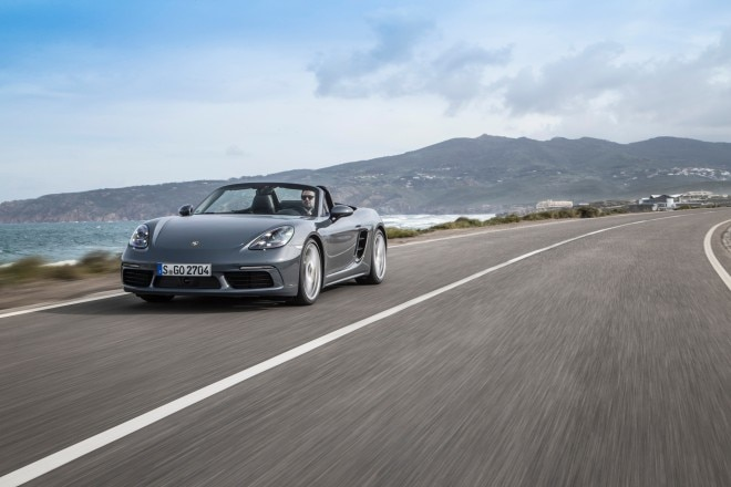 2017 Porsche 718 Boxster front three quarter in motion 03 1