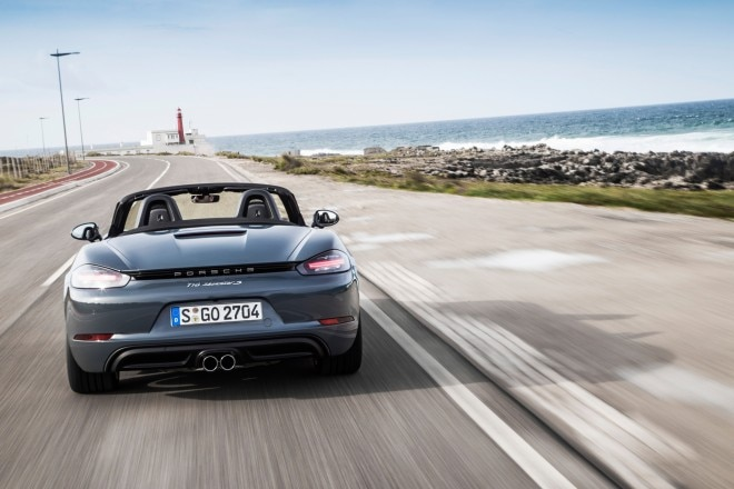 2017 Porsche 718 Boxster rear end in motion 2