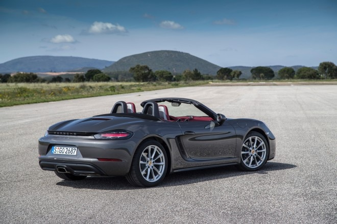 2017 Porsche 718 Boxster rear three quarter