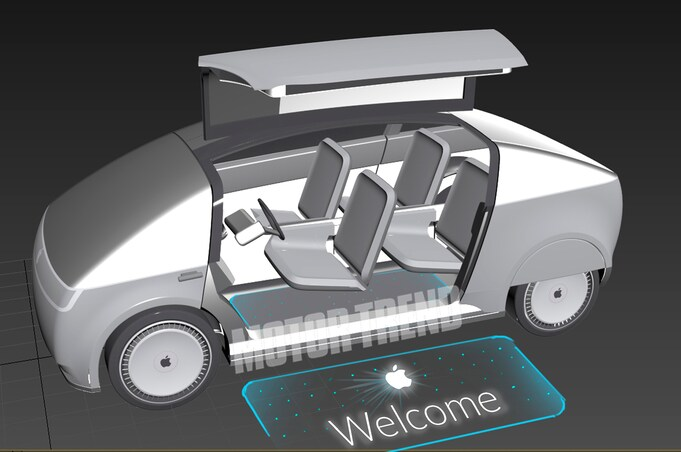 Apple Car doors open rendering